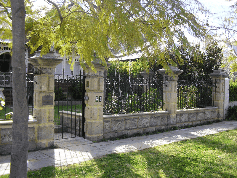 Wrought Iron Spear Top Fencing And Gate In Claremont