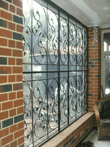 Wrought Iron Window Screen In Subiaco