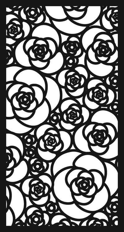 Laser Cut Rose Design Aluminium Sheet