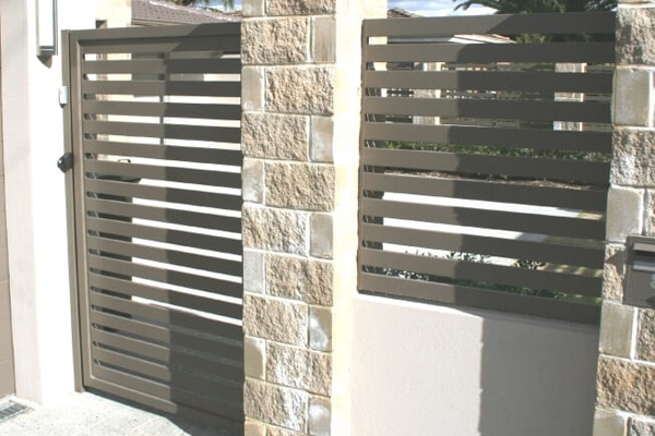 Aluminium Slat fencing and gates perth