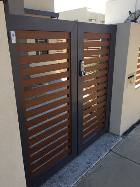 Ali Slat Gates, Western Red Cedar Timber Pattern Churchlands