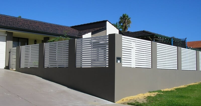 Aluminium Slat Fence Panels And Gate Duncraig