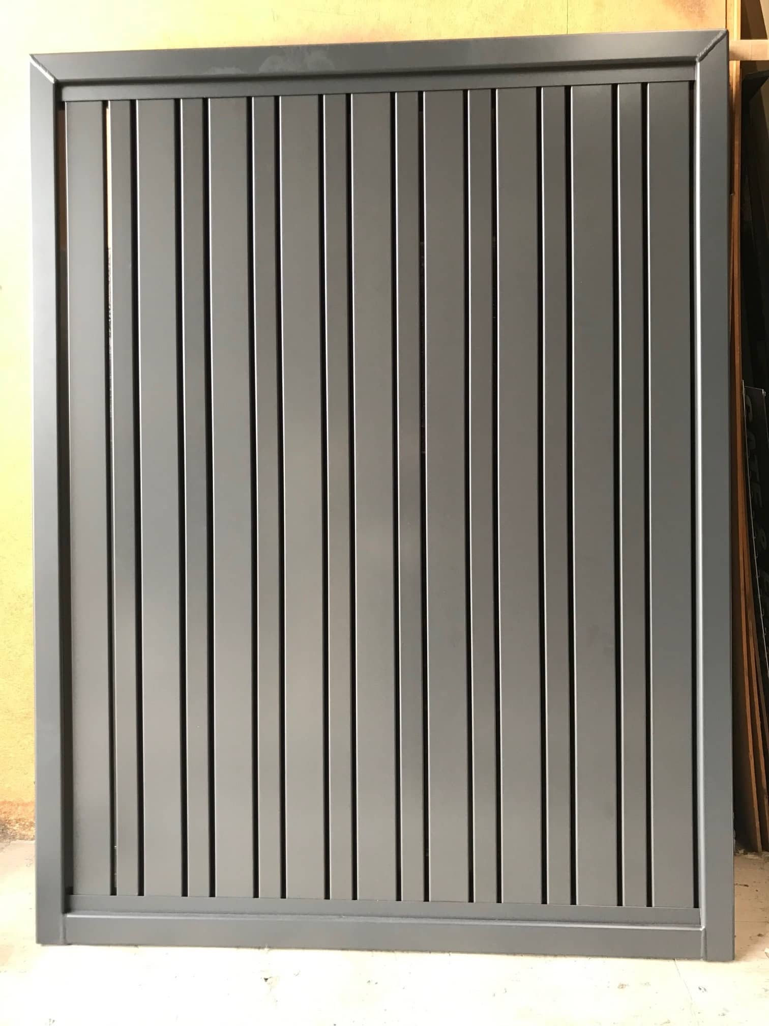 Aluminium Slat Gate With 65 And 38mm Slats