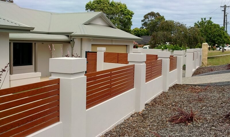 Aluminium Timber Grain Infill Fencing, Western Red Cedar, Melville