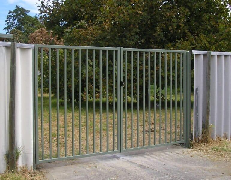 Basic Flat Top Square Steel Driveway Gates