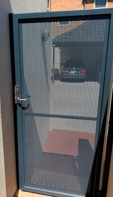 Perforated Screen Security Gate Joondalup