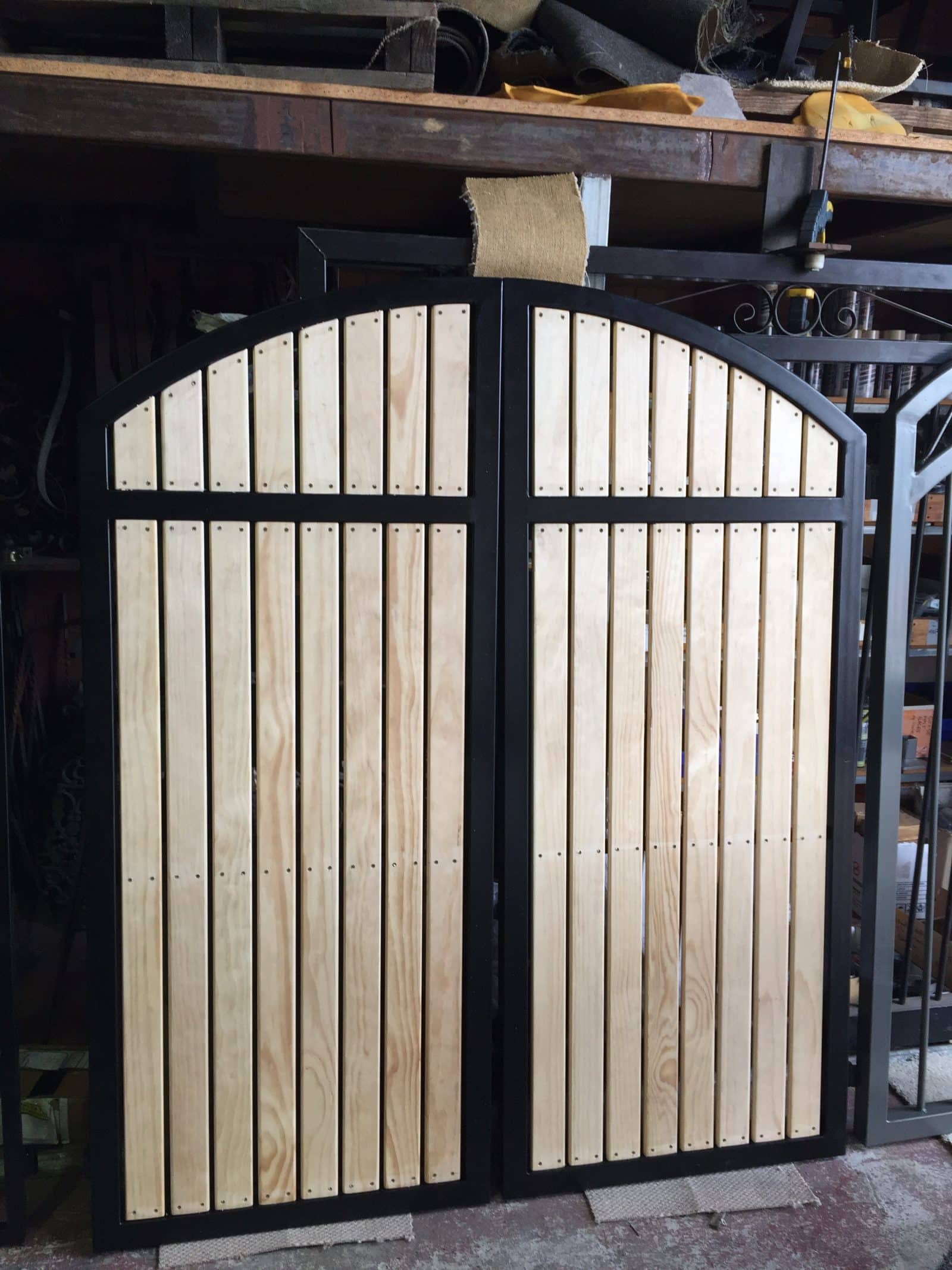 Pine Picket Gates Steel Framed With Curve Perth