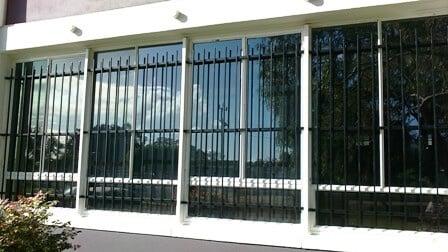 Tubular Steel Window Grilles. Melville